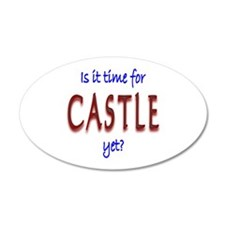Time For Castle 20x12 Oval Wall Decal