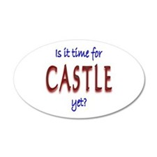 Time For Castle 35x21 Oval Wall Decal