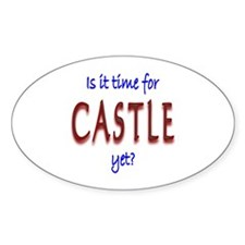 Time For Castle Sticker (Oval 10 pk)