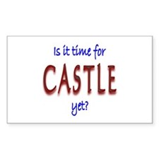 Time For Castle Sticker (Rectangle 10 pk)