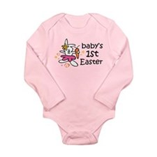 Easter Bunny Cute Long Sleeve Infant Bodysuit