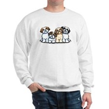 Four Shih Tzus Sweatshirt