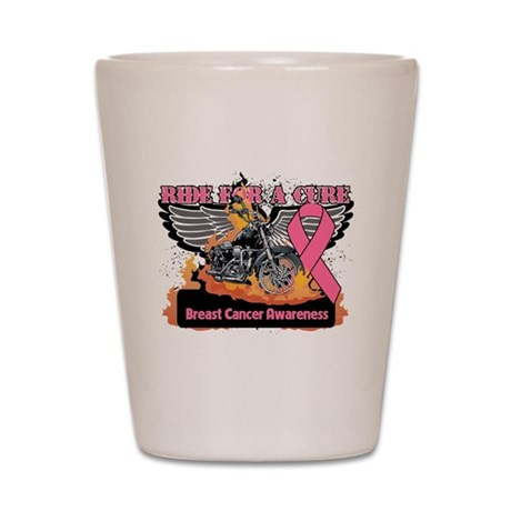 Ride For A Cure Breast Cancer Shot Glass