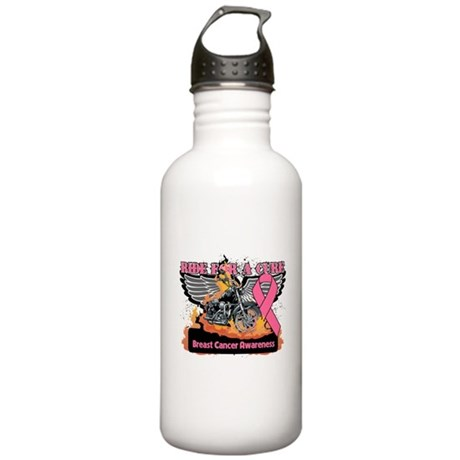 Ride For A Cure Breast Cancer Stainless Water Bott