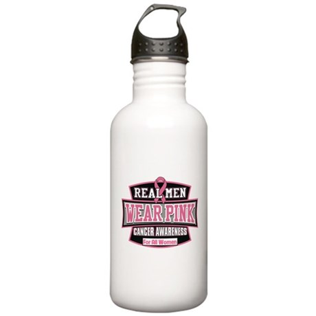 Real Men Wear Pink Stainless Water Bottle 1.0L