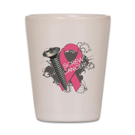 Screw Breast Cancer Shot Glass