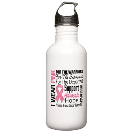 Pink Ribbon Tribute Stainless Water Bottle 1.0L