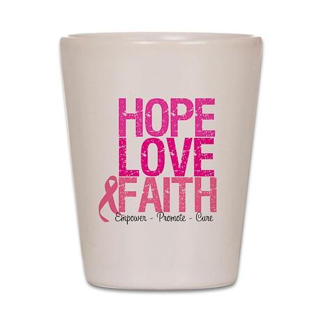 Breast Cancer Hope Shot Glass