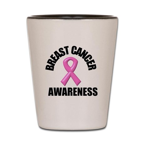 Breast Cancer Awareness Shot Glass
