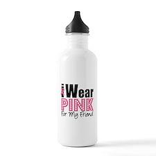 I Wear Pink Water Bottle