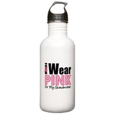 I Wear Pink Grandmother Water Bottle