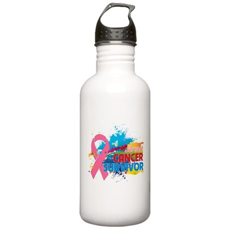 Splash Breast Cancer Stainless Water Bottle 1.0L