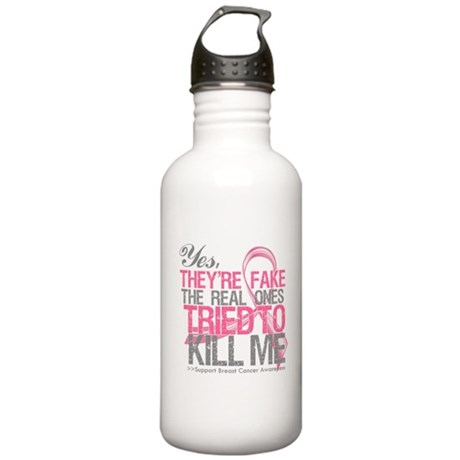 Fake 2 - Breast Cancer Stainless Water Bottle 1.0L