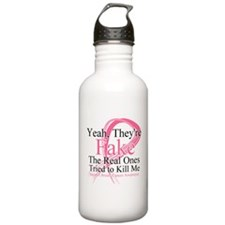 Fake 2 - Breast Cancer Water Bottle