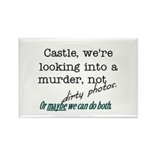 Castle: Murder and Dirty Photos Rectangle Magnet (