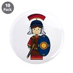 "Cute Little Roman Soldier 3.5"" Button (10 Pk)"