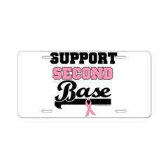 Support 2nd Base (v1) Aluminum License Plate