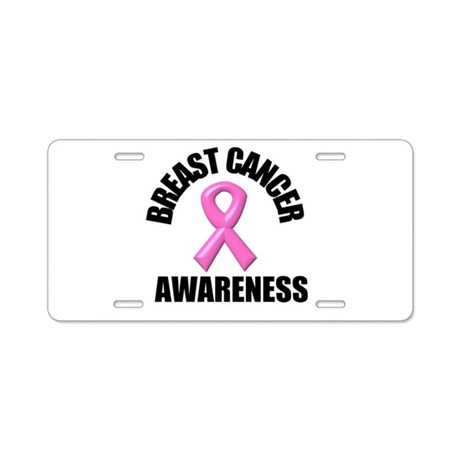 Breast Cancer Awareness Aluminum License Plate