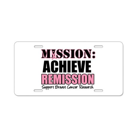 Mission Remission BC Aluminum License Plate