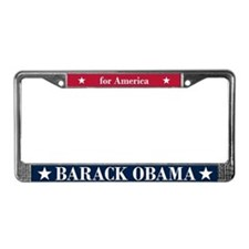Barack Obama for America License Plate Frame