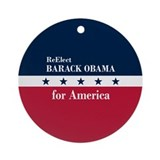 Barack Obama for America Ornament (Round)