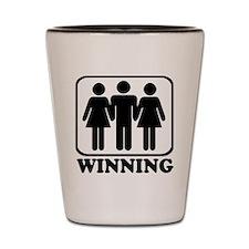 Winning Threesome Shot Glass