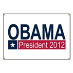 Obama President 2012 Banner