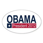 Obama President 2012 Sticker (Oval 10 pk)