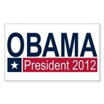 Obama President 2012 Sticker (Rectangle 10 pk)