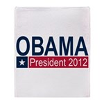 Obama President 2012 Throw Blanket