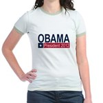 Obama President 2012 Jr. Ringer T-Shirt