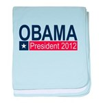 Obama President 2012 baby blanket