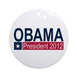 Obama President 2012 Ornament (Round)