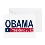 Obama President 2012 Greeting Cards (Pk of 10)