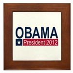 Obama President 2012 Framed Tile