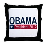Obama President 2012 Throw Pillow