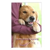 Golden Retriever Postcards Love (Package of 8)