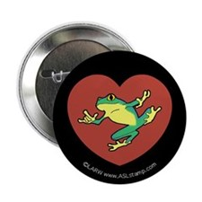 "ILY Frog in Heart 2.25"" Button (100 pack)"