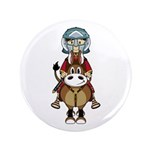 "Roman Gladiator Riding Horse 3.5"" Button (100"
