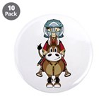 "Roman Gladiator Riding Horse 3.5"" Button (10"