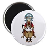 "Roman Gladiator Riding Horse 2.25"" Magnet (10"