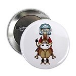 "Roman Gladiator Riding Horse 2.25"" Button (10"