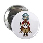 "Roman Gladiator Riding Horse 2.25"" Button"