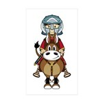 Roman Gladiator Riding Horse Sticker (10 Pk)