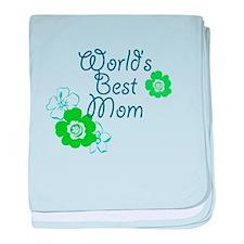 World's Best Mom baby blanket
