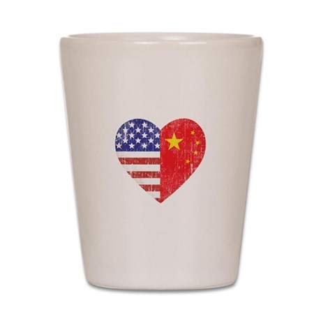 Family Heart Shot Glass