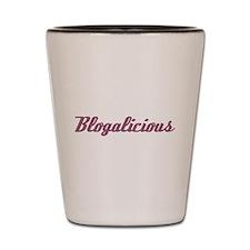 Blogalicious (dusty pink) Shot Glass