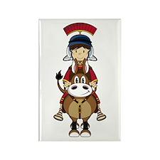 Roman Soldier Riding Horse Magnet