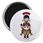 "Roman Soldier Riding Horse 2.25"" Magnet (100"