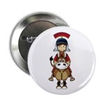 "Roman Soldier Riding Horse 2.25"" Button (100"